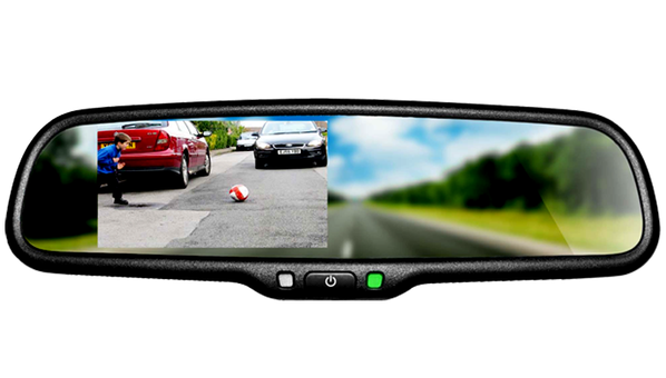 "Aidrow carries and installs the BOYO VTB46M 4.3"" OE style replacement type mirror monitor with Bluetooth"